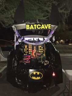 Bat cave for Halloween Trunk or Treat.