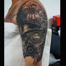 nuclear explosion tattoo tattoo by brett thompson tatoo design bm pinterest explosions. Black Bedroom Furniture Sets. Home Design Ideas