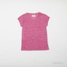 Camiseta rosa de pico y manga corta para niña de Hartford. #girl #TShirt #fashion #NeroliByNagore #SS14 #hartford