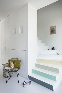 Escalier Levis Door Dividers, Bedroom Paint Colors, Stairways, Beach House, Sweet Home, New Homes, Interior Design, Living Room, Architecture