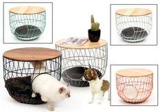 Cat Wire Table Bed from PurrFect Design in Antwerp, Belgium