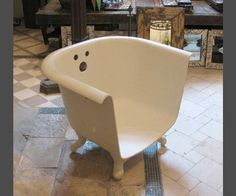 Darling Claw Foot Bathtub Chair by oldegoodthings on Etsy, $975.00