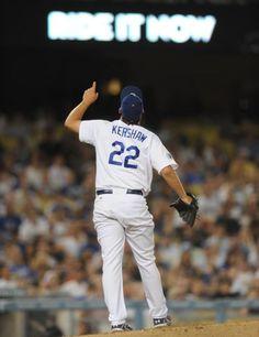 Kershaw looks good in Dodger Blue!!