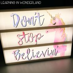 Light Box Tips, Tricks, and Ideas - Learning In Wonderland Light Up Letter Box, Light Up Box, Light Board, Lightbox Letters, Diy Letters, Lightbox Quotes, Cinema Light Box Quotes, Cinema Box, Licht Box