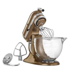 KitchenAid® Artisan® Design Series 5-Quart Tilt-Head Stand Mixer with Glass Bowl (KSM155GBCA Candy Apple Red) |