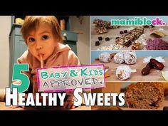 5 geniale Rezepte für gesunde Süßigkeiten   Superfood für Kids & family   mamiblock kiDchen - YouTube 5 Babies, Baby Kids, Superfoods, Check Up, Baby Led Weaning, Snacks, Healthy Sweets, Breakfast, Chef