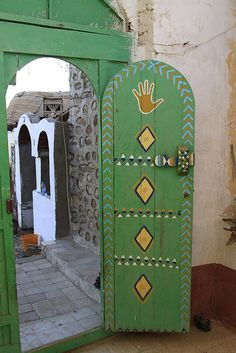 Door of Nubian Village Home, Aswan | Flickr - Photo Sharing!