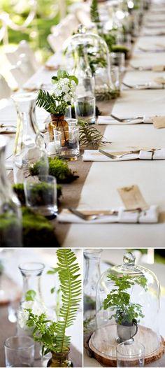 Decoración para mesas de recepción de bodas