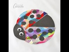Colorful Paper Plate Ladybug - YouTube