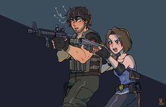 Resident Evil 3 Remake, Carlos Resident Evil, Resident Evil Girl, Ed Wallpaper, Game Character, Character Design, Evil Anime, Evil Art, Jill Valentine