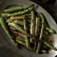 Roasted Asparagus with Balsamic Browned Butter, Cooking Light, Oct. 2013 issue.