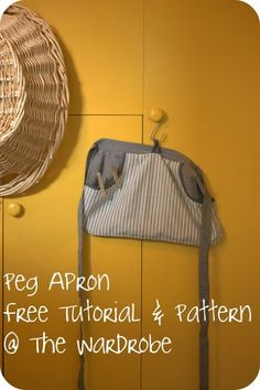 OMG - just the job, a Peg Apron with Pattern & Tutorial