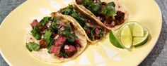 Carne Asada Tacos (made in cast iron, natch!) - Recipe by Mario Batali, from The Chew