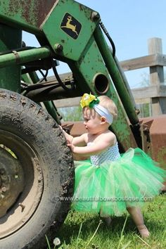 We will be taking a picture of B like this (next to some construction equipment) when he is walking!