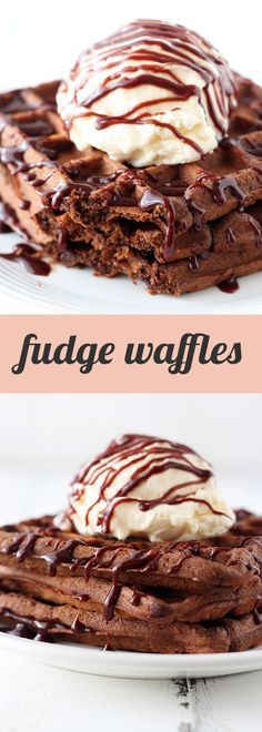 Fudge Waffles - Handle the Heat