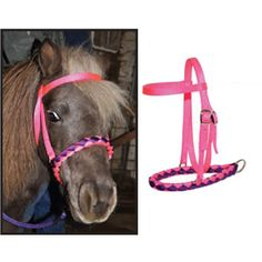 Miniature Horse Size Braided Nylon Bosal - USA Made - Horse Tack - LuckyPony.com