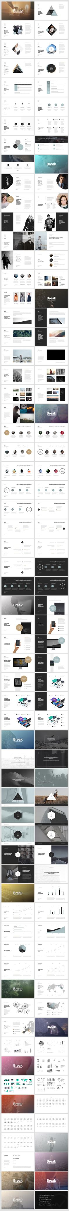 Rhino Keynote Presentation Template by GoaShape on Creative Market - Keynote - Ideas of Keynote - Rhino Keynote Presentation Template by GoaShape on Creative Market Graphisches Design, Slide Design, Book Design, Layout Design, Keynote Design, Design Presentation, Presentation Templates, Presentation Slides, Template Power Point