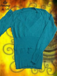 Sweater con escote en v.