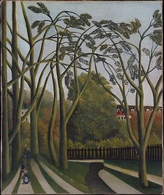 The Banks of the Bièvre near Bicêtre - Henri Rousseau (le Douanier). The Metropolitan Museum of Art, New York. Gift of Marshall Field, 1939 Henri Rousseau, Art Moderne, Naive Art, French Artists, Metropolitan Museum, Oeuvre D'art, Art History, Painting & Drawing, Landscape Paintings