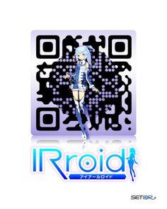 iRoid (Japanese Stock Exchange) Custom QR Code by SETQR http://www.setqr.com