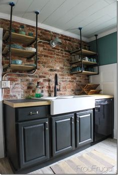The color is Iron Ore by Sherwin Williams. I love the dark color, but it does show dirt rather quickly, especially in a home where remodeling sawdust and ...