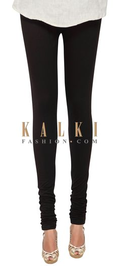 Buy Online from the link below. We ship worldwide (Free Shipping over US$100) Price- $19 Click Anywhere to Tag http://www.kalkifashion.com/black-cotton-hosiery-legging-only-on-kalki-21477.html