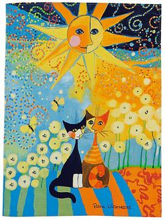 13 Best Rosina Wachtmeister Images Cat Art Painting Cats