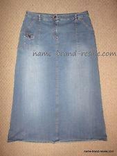 Ruffhewn denim jean long modest skirt Womens Size 14