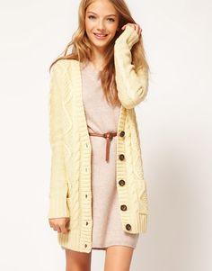 long cardigan / asos... this looks so cozy