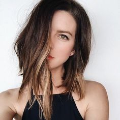 Image result for dark hair with peekaboo highlights