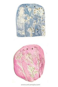 FLOWER IMPRESSIONS IN CLAY  | Nature Art Projects | Flower art projects for kids | Spring Art ideas for kids | Easter Art | Pressed flower DIY | Clay Projects for kids