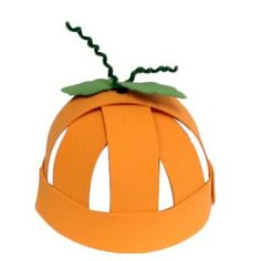 This pumpkin hat can be made with construction paper or felt, but either way it's guaranteed to look great! Add a little stem with some pipe cleaner.