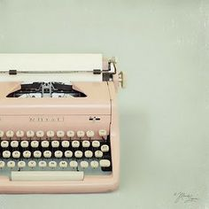 typewriters are always so alluring.