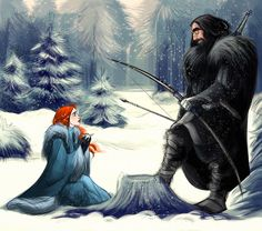Wild At Heart by kallielef.deviantart.com on @deviantART - Sansa Stark & The Hound - Game Of Thrones