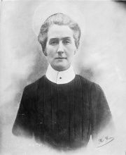 Edith Cavell was an English nursing matron executed by the Germans in Brussels on 12 October 1915 for assisting enemy troops. After her death, she became one of the most famous women of World War One. The Allies used her name for recruitment purposes.