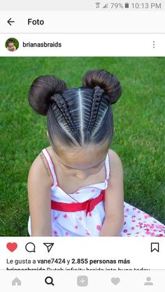 What is natural hair? In a strict word definition, natural hair is hair that has not been altered by rel… Lil Girl Hairstyles, Twist Hairstyles, Pretty Hairstyles, Braids For Kids, Girls Braids, Curly Hair Styles, Natural Hair Styles, Toddler Hair, Braid Styles