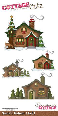 CottageCutz Santa's Retreat (4x8)