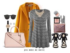"""""""You make me smile:)"""" by sylvieraith on Polyvore featuring Michael Kors, Nine West, Bebe, Barbour, River Island, Bobbi Brown Cosmetics and Illesteva"""