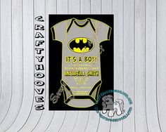Superhero Batman Baby Shower It's a Boy Party Invitations U-Print Custom Super…