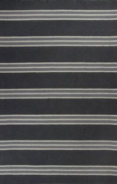 Kas Oriental Loft Stripes Charcoal Rug | Solid & Striped Rugs #RugsUSA