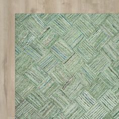 Found it at AllModern - Upton Hand-Tufted Green Area Rug