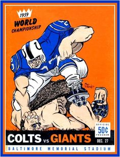 1959 NFL Championship Game Program ~ Baltimore Colts vs. New York Giants