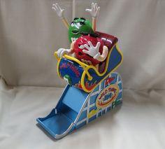 Vintage M&M Mechanical Dispenser Wild Thing Roller Coaster Mars Candy by KansasKardsStudio on Etsy