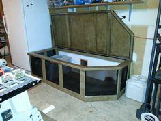 Hidden litter box, garage litter box. Litter box idea, Cat sanctuary.