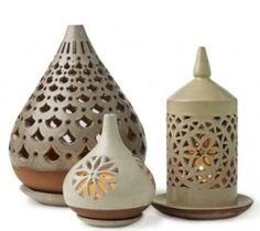 Egyptian Ceramic Lanterns from Vivaterra