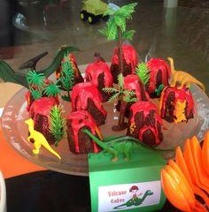 Dinosaur Party - Volcano Cakes