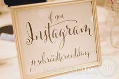 "Custom Hashtag ""If You Instagram"" Sign Whimsical Style - 14 Must-Have Wedding Signs for Your Big Day"