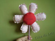 flor de tecido no palito - pap no blog