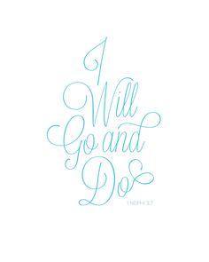 I Will Go and Do PDF printable via yxco.co