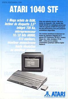 Atari 1040 STF (French ad)